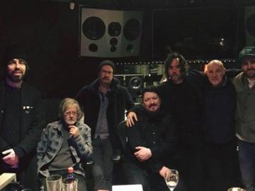 Derek with Broken Social Scene, Jimmy from Metric, and famed producer Joe Chiccarelli